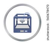3d printer in cartoon style... | Shutterstock .eps vector #560678470