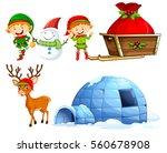 christmas characters and igloo...