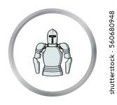 plate armor icon in cartoon...   Shutterstock .eps vector #560680948