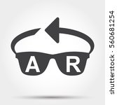 augmented reality icon | Shutterstock .eps vector #560681254