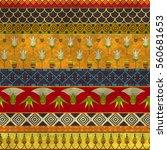 ancient egyptian ornament... | Shutterstock .eps vector #560681653