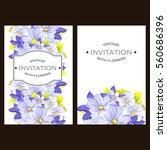 romantic invitation. wedding ...   Shutterstock . vector #560686396