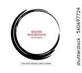 hand drawn circle shape. label  ... | Shutterstock .eps vector #560697724