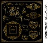 vector set of vintage elements... | Shutterstock .eps vector #560698354