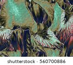 elegant and gestural iris... | Shutterstock . vector #560700886