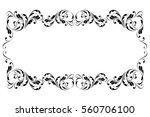 decorative frame. floral swirls ... | Shutterstock .eps vector #560706100