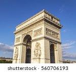 arc de triomphe   paris   france | Shutterstock . vector #560706193