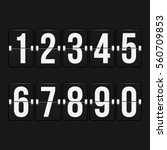 set of numbers on a mechanical... | Shutterstock .eps vector #560709853