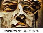 Antique Statue Monument Of...