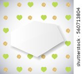 background with green heart and ... | Shutterstock .eps vector #560713804