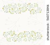 green plants frame illustration | Shutterstock .eps vector #560713846