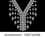 geometric ethnic pattern neck... | Shutterstock .eps vector #560716306
