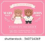 cute bear couple illustration... | Shutterstock .eps vector #560716369