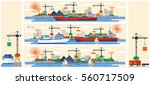 set vector illustration header... | Shutterstock .eps vector #560717509
