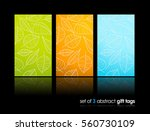set of nature gift cards with... | Shutterstock .eps vector #560730109
