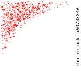 Red Hearts Confetti. Top Left...