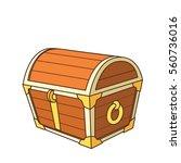 catroon treasure chest | Shutterstock .eps vector #560736016