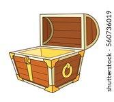 catroon treasure chest open | Shutterstock .eps vector #560736019