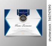certificate premium template... | Shutterstock .eps vector #560747890