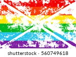 striped rainbow texture gay... | Shutterstock .eps vector #560749618
