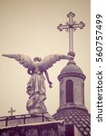 Angel Statue In Recoleta...