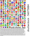 Complete Set Of Flags Hearts O...