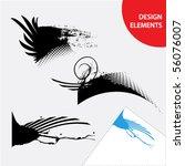 set of grunge design elements | Shutterstock .eps vector #56076007