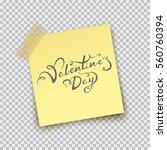paper sheet pin on sticky tape... | Shutterstock .eps vector #560760394