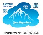 mountain and lake vector icon... | Shutterstock .eps vector #560763466
