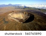 aerial view of a crater of la...