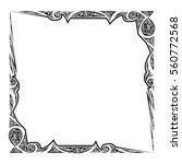 vector frame. calligraphic... | Shutterstock .eps vector #560772568