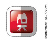 middle shadow sticker in red... | Shutterstock .eps vector #560779294