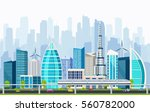 smart city with large modern... | Shutterstock .eps vector #560782000