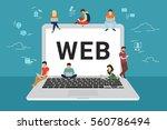 web site surfing concept... | Shutterstock .eps vector #560786494