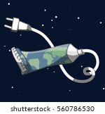 from the tube of earth an... | Shutterstock .eps vector #560786530