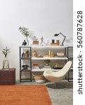 modern office room detail... | Shutterstock . vector #560787628