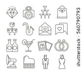 wedding icons thin line style...   Shutterstock .eps vector #560790793