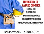 worker with blue coverall... | Shutterstock . vector #560800174