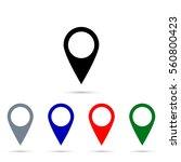 location sign. | Shutterstock .eps vector #560800423