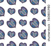 hearts background for textile... | Shutterstock .eps vector #560801980