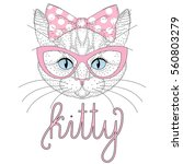 cute anthropomorphic kitty... | Shutterstock .eps vector #560803279