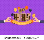 flat style hands illustration... | Shutterstock .eps vector #560807674