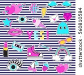set of patches  stickers ... | Shutterstock .eps vector #560810584