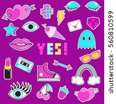 set of patches  stickers ... | Shutterstock .eps vector #560810599