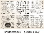 big collection or set of vector ... | Shutterstock .eps vector #560811169