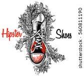 hipster fashion illustration... | Shutterstock .eps vector #560811190