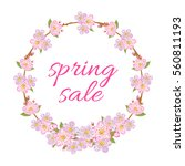 spring sale illustration with... | Shutterstock .eps vector #560811193