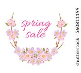 spring sale illustration with... | Shutterstock .eps vector #560811199