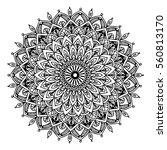 mandalas for coloring book.... | Shutterstock .eps vector #560813170