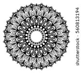 mandalas for coloring book.... | Shutterstock .eps vector #560813194